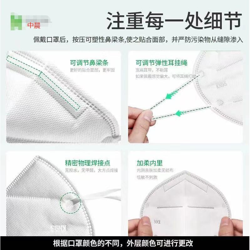 天幕 雙鋼印「每片獨立包裝」 五層超防護防飛沫 FFP2口罩N95工廠用 「歐盟認證」 5D立體口罩