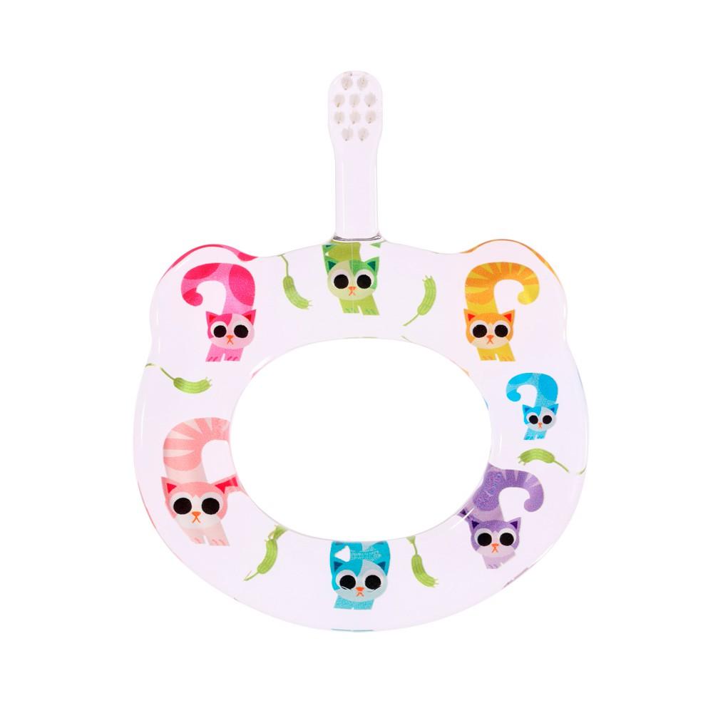 日本Hamico寶寶顧齒牙刷-7月小貓咪