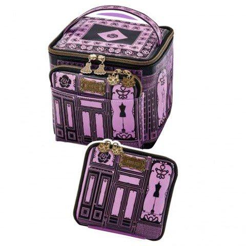 【現貨】日本雜誌附錄 日雜包 ANNA SUI 貓咪 蝴蝶 化妝包 化妝箱 旅行過夜包+收納包兩件組