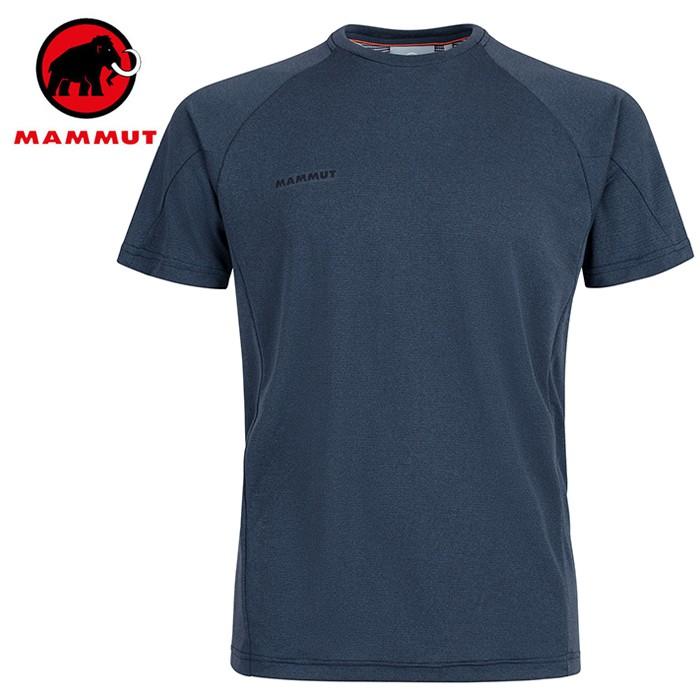 【Mammut 長毛象 瑞士】Aegility 圓領短袖排汗衣 運動上衣 男款 海洋藍 (01900-5784)