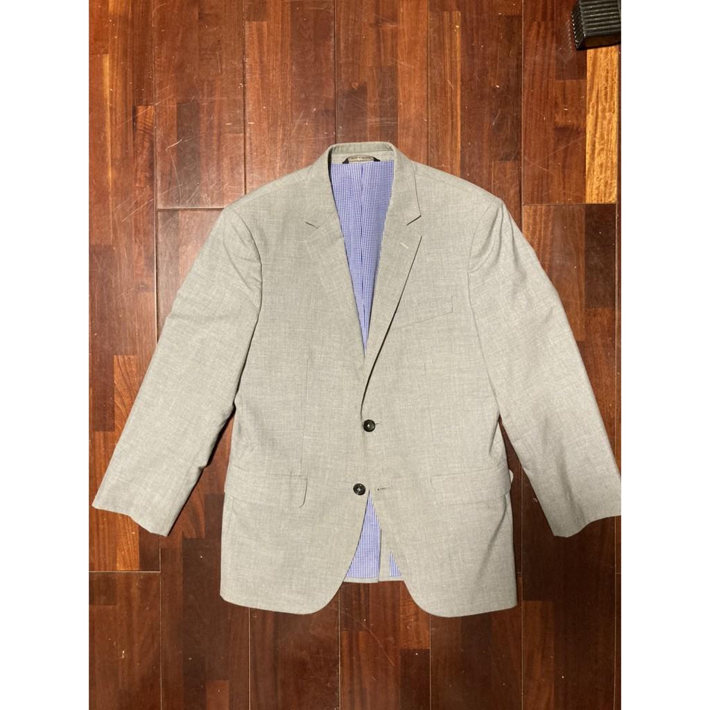 降價!美國名牌「香蕉共和國」Banana Republic 灰色西裝外套(blazer)38S