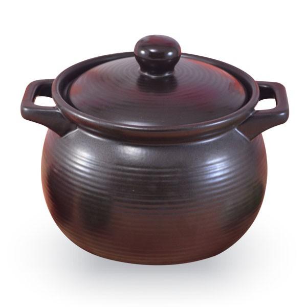 【堯峰陶瓷】鶯歌製造  8號深鍋 嚴選滷味黑鍋 陶鍋 燉鍋 (4~5人份)超耐用