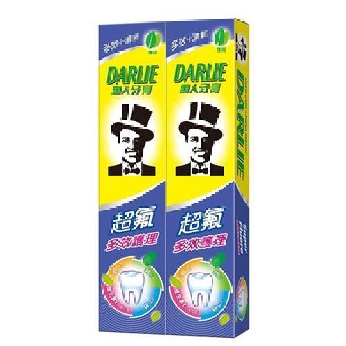 黑人 超氟多效護理牙膏(180gX2入/組)[大買家]