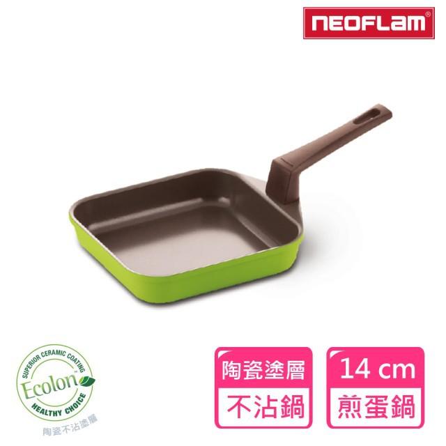 NEOFLAM Mitra方形煎蛋鍋14cm 青綠色(煎蛋/蛋捲/玉子燒鍋)