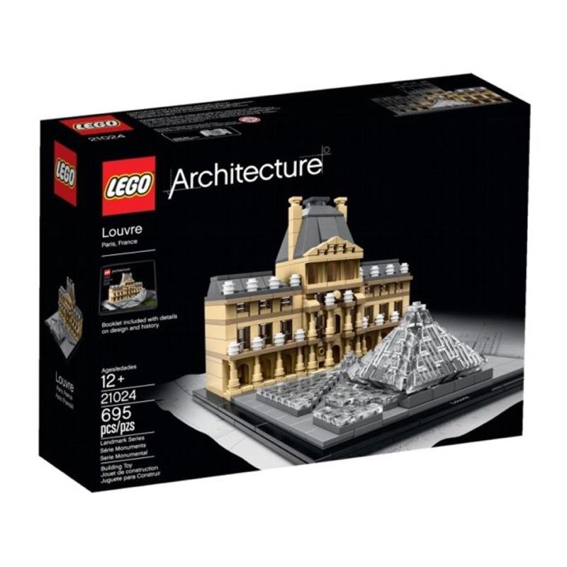 世界知名建築 樂高積木 LEGO 21024 【羅浮宮 】X LEGO 21036  【凱旋門】全新合售