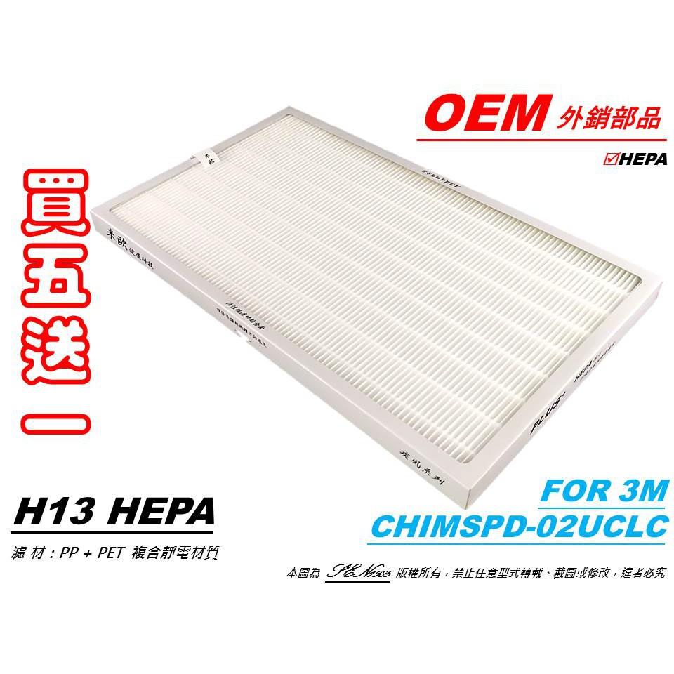【米歐 HEPA 濾網】抗菌適用 3M 超濾淨型 高效版 02UCLC 空氣清淨機 同 CHIMSPD-01/02UCF