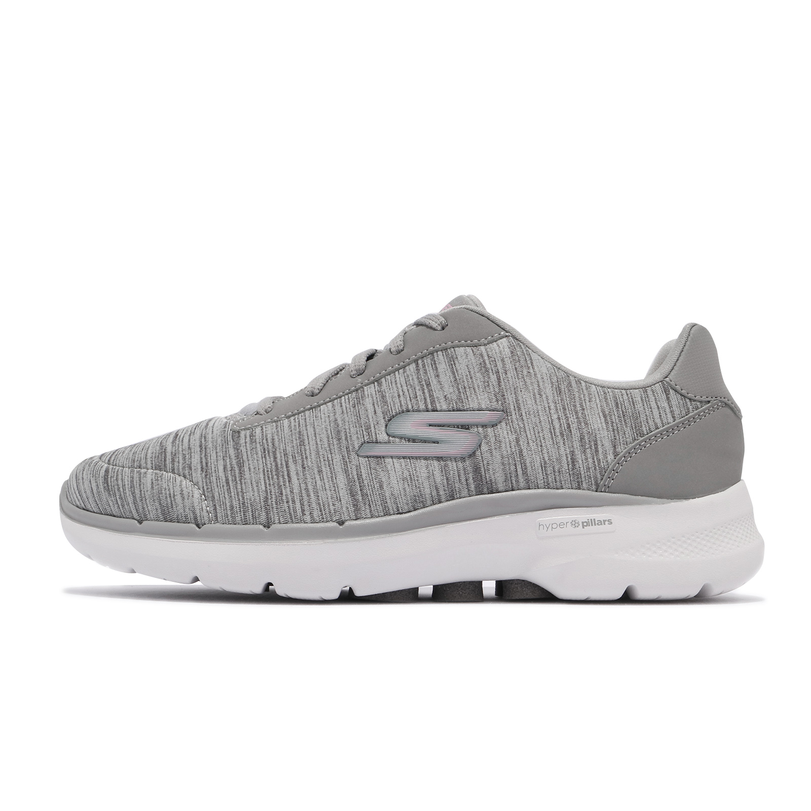 Skechers 健走鞋 Go Walk 6 寬楦頭 女鞋 灰 白 記憶鞋墊【ACS】 124506W-GRY