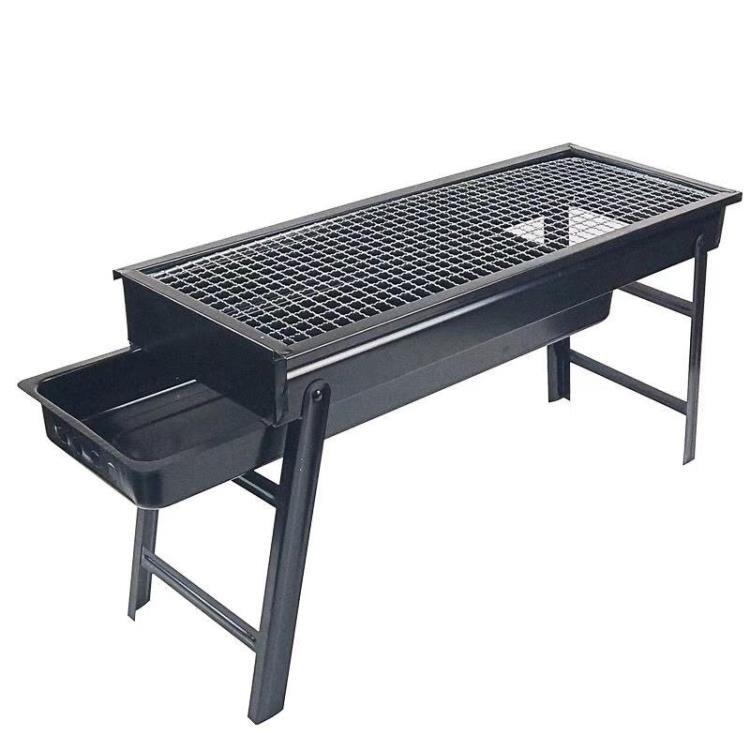 戶外抽拉碳槽便攜式燒烤爐燒烤架家用木炭烤串工具折疊野外全套爐子/可開超取
