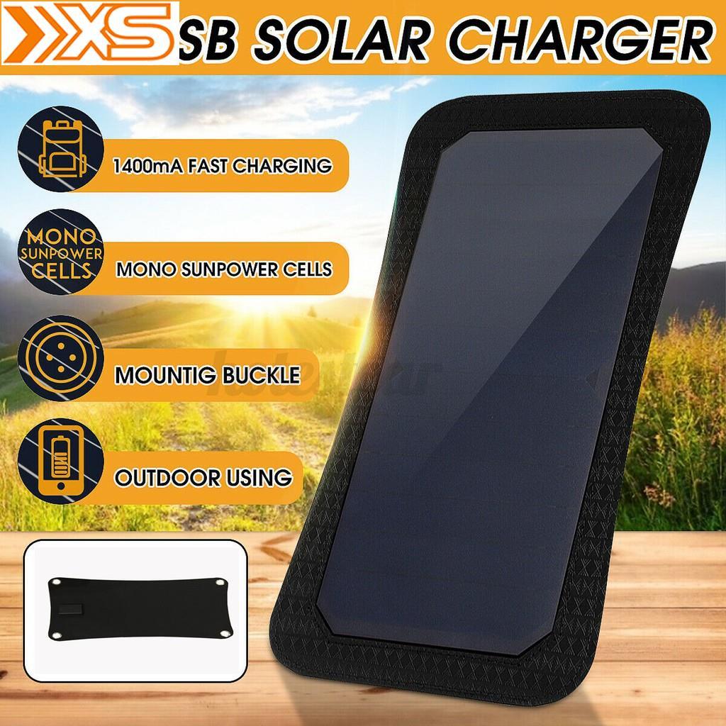 【現貨速發】sunpower太陽能板單UBS穩壓器充電手機平板MP3戶外釣魚太陽能充電應急充電旅行野♥小熊購物商城♥
