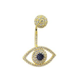 apm MONACO法國精品珠寶 璀璨之眼鍍K金鑲鋯單邊耳針式耳環 AE9007OXY-1 台北市
