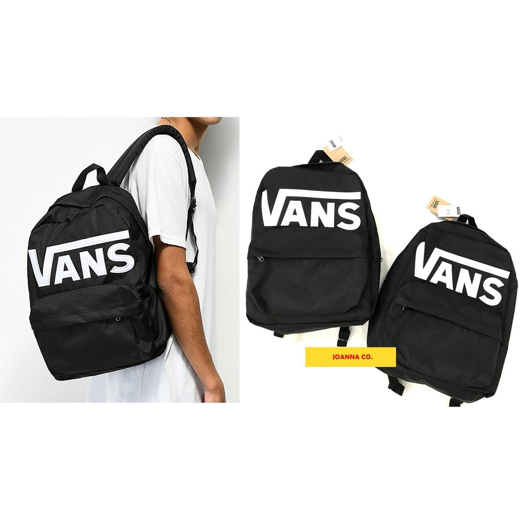 JOANNA💕 VANS OLD SKOOL II BACKPACK 背包 後背包 基本款 滑板 范斯 LOGO 黑色