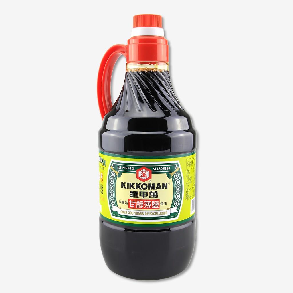 龜甲萬 甘醇薄鹽醬油 1600ml ( 總重:2000g ) / 罐