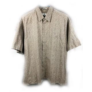 美國帶回♨️Pierre Cardin 淺棕色短袖花襯衫♨️古著 復古 古着 二手 新北市