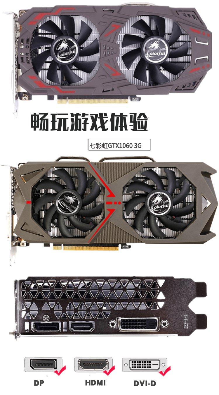 新品 現貨七彩虹+技嘉 GTX1060 OC 3G 6G 台式機電腦電競遊戲吃雞顯卡