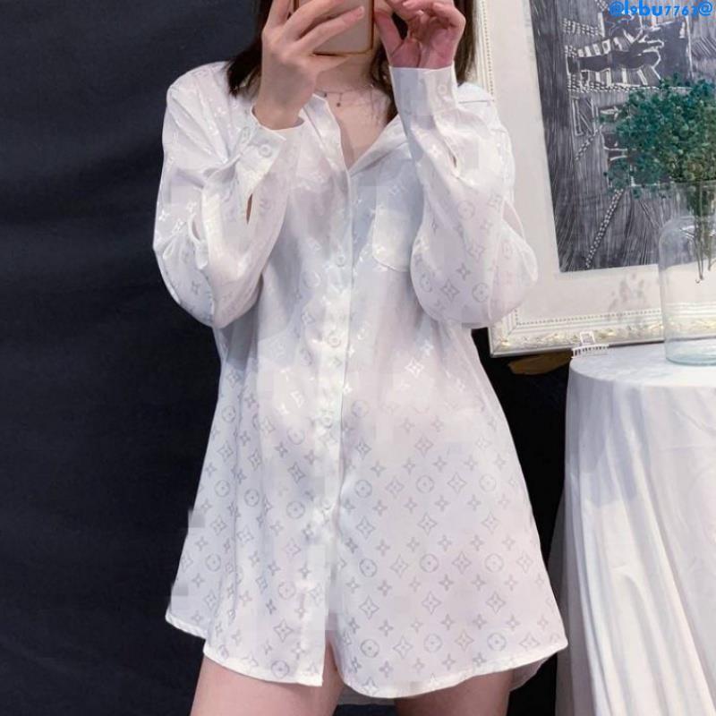 【現貨特價】歐洲站綢緞白襯衫女設計感小眾輕熟復古港味寬松韓版慵懶風歐貨潮