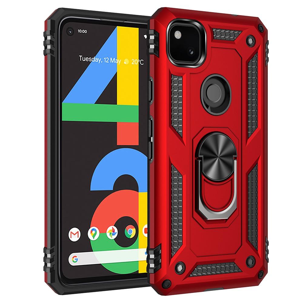 【軍工防摔】谷歌 Google Pixel 4A 4G / 5G 手機殼 Pixel4A 磁吸車載支架 指環保護殼 硬殼