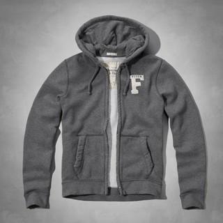 美國百分百【全新真品】Abercrombie & Fitch 外套 AF 連帽 夾克 帽T 麋鹿 灰色 特價 E328 新北市
