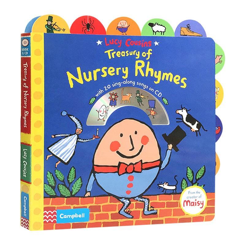 兒童童謠繪本 英文原版 Lucy Cousins Treasury of Nursery Rhyme
