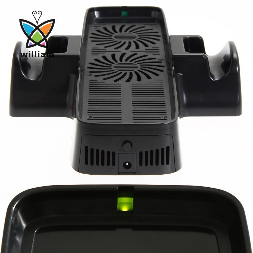 [Hot] 帶有用於 Xbox 360 遊戲控制器的雙底座冷卻風扇