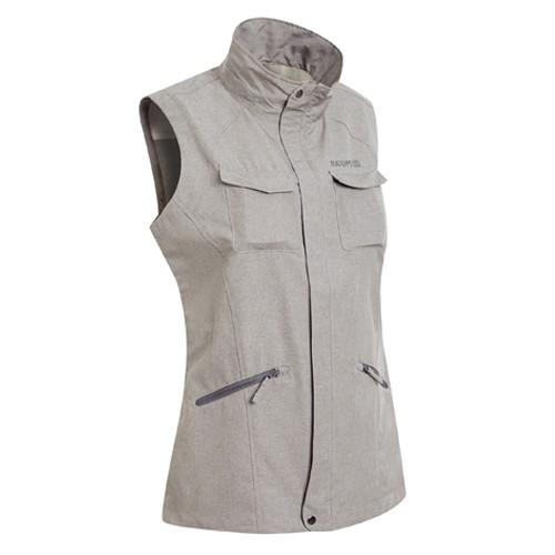 瑞多仕 DA2388 女多口袋背心(拉鍊長版款) 灰卡其麻灰色 登山 釣魚 戶外休閒 RATOPS