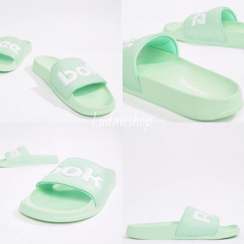 正品 reebok 果螢綠 拖鞋 slide 運動拖鞋 休閒鞋 外出鞋