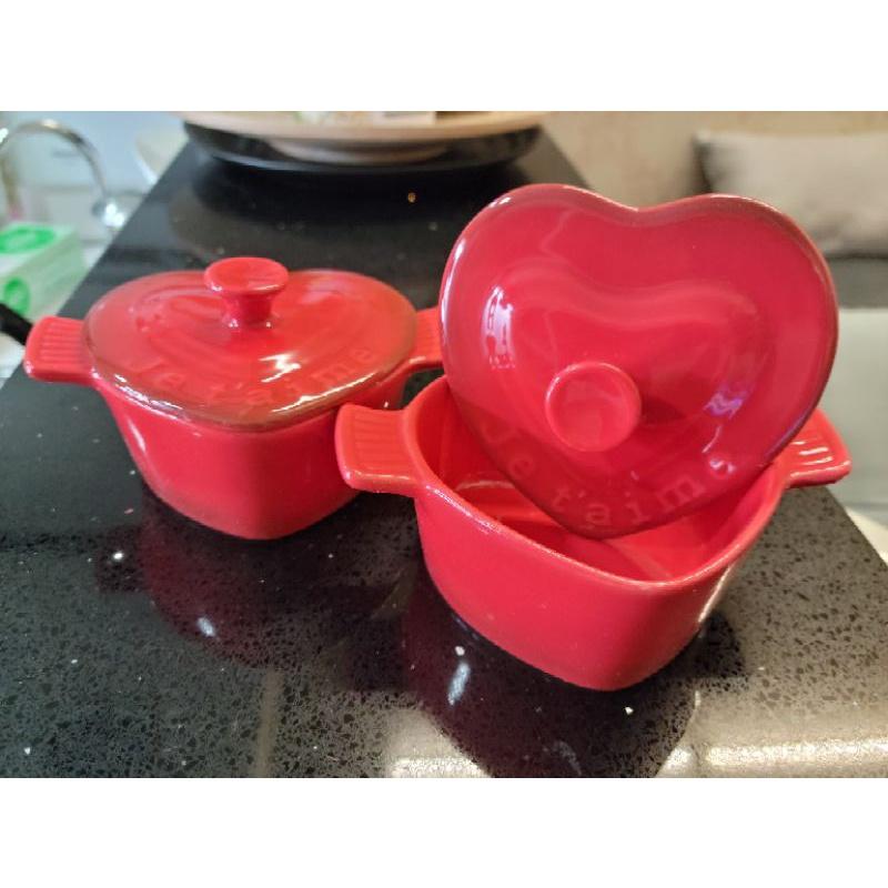 西華名鍋陶瓷愛心小烤盅兩入