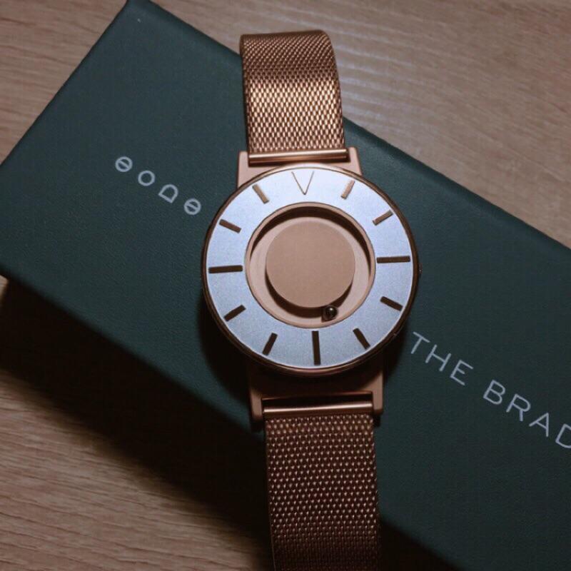 出清 大英博物館典藏 全台首款觸感腕錶 EONE Bradley 玫瑰金 非DW 手錶 范倫鐵諾  Casio