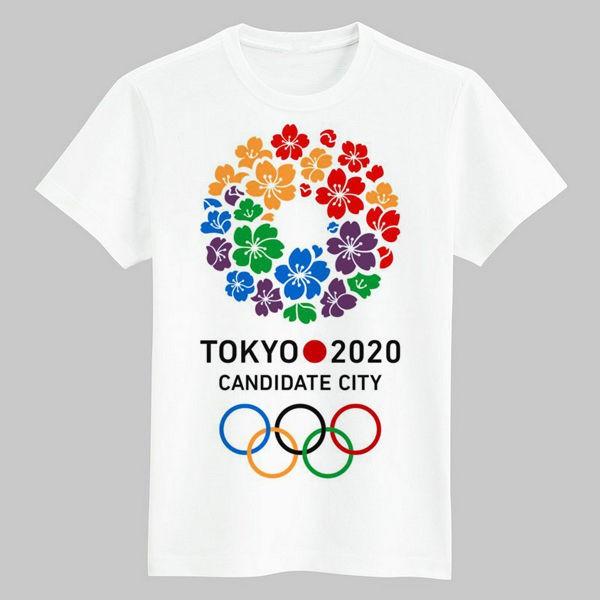 東京奧運會 紀念品 限量 2020年東京奧運會會徽吉祥物短袖T恤夏裝衣服來圖定製有童款 現貨