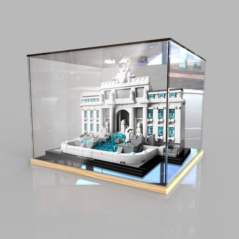 【xnx】適用樂高21020羅馬許願池亞克力展示盒積木模型收納 透明防塵罩