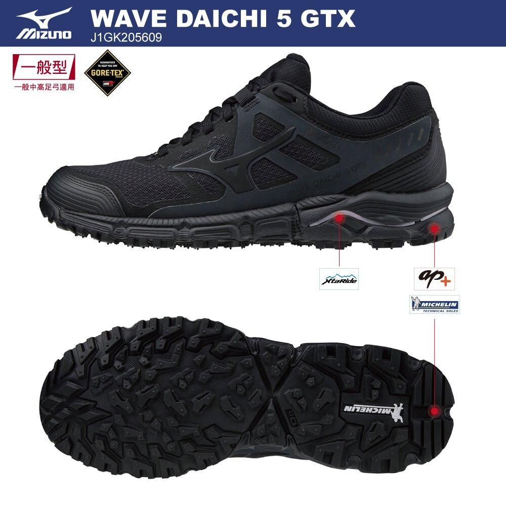 【私立高校】美津濃 MIZUNO WAVE DAICHI 5 GTX J1GK205609 女鞋 慢跑鞋 (M0845)