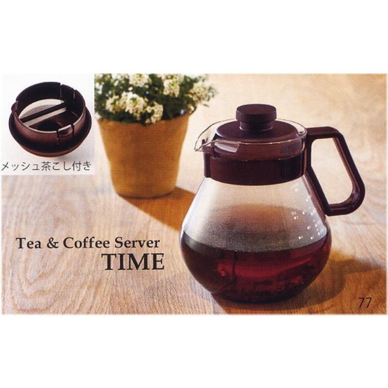 日本製 hario 咖啡壺 耐熱玻璃泡茶壺可微波 Hario TCN-100CBR (1000ml)