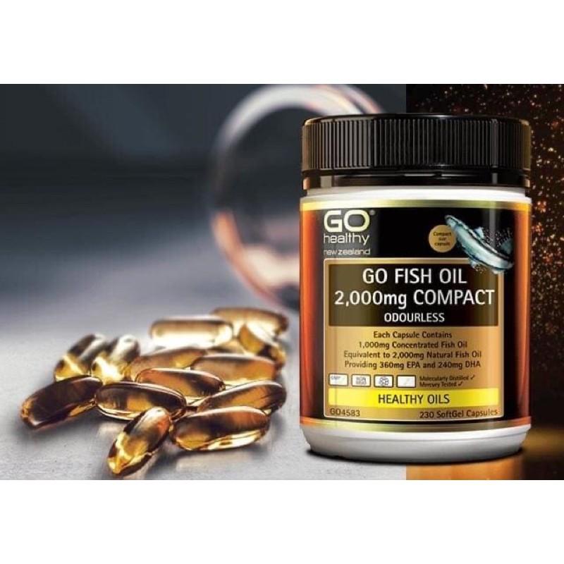 紐西蘭 GO healthy 高之源 2,000mg 高含量深海魚油