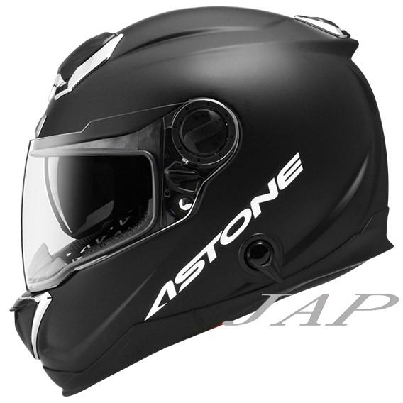 ASTONE GT1000F 素色 消光黑 碳纖材質  雙鏡片雙D扣全罩安全帽