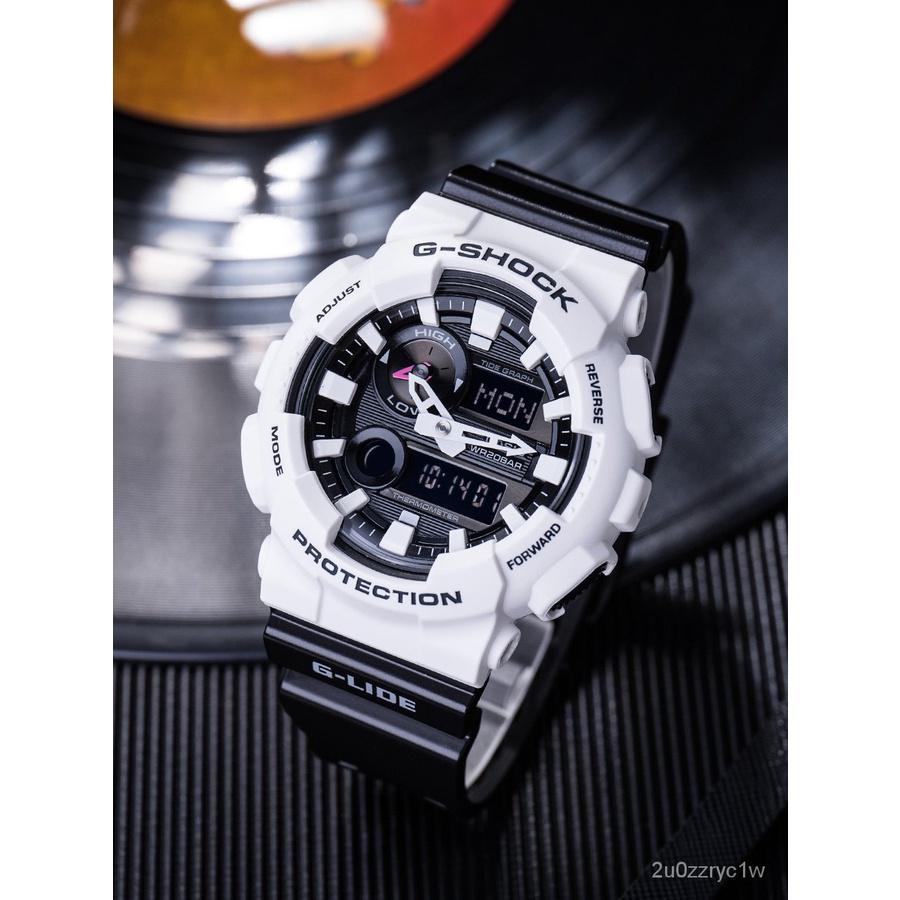 卡西歐G-SHOCK黑白熊貓潮汐溫度運動手錶GAX-100B-7A/1A 100A-7A新品速遞夏季新品