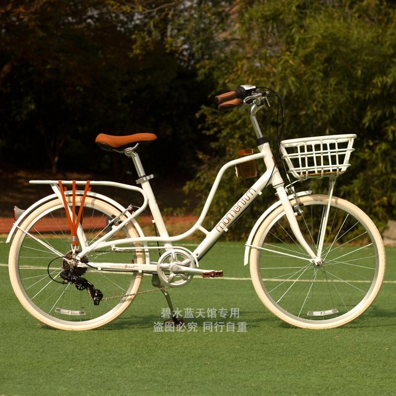 ⭐優質現貨 淑女車⭐⊙✎捷安特自行車24寸26寸女式輕便鋁合金變速復古淑女單車學生通勤車