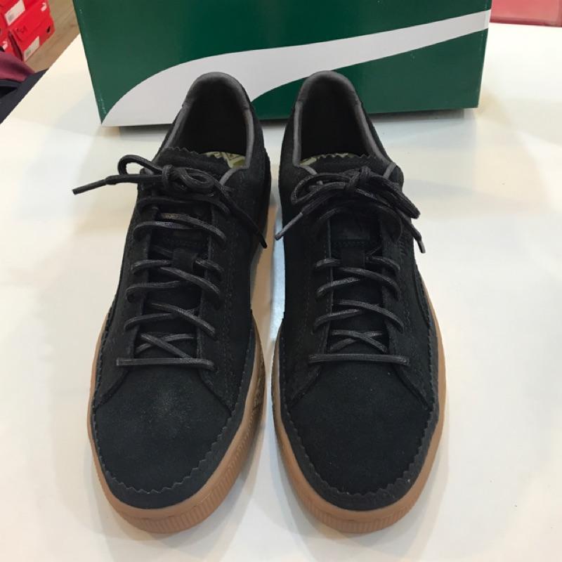Puma Suede Classic  Brogue  黑色 男女款 麂皮 膠底運動休閒鞋 36663101
