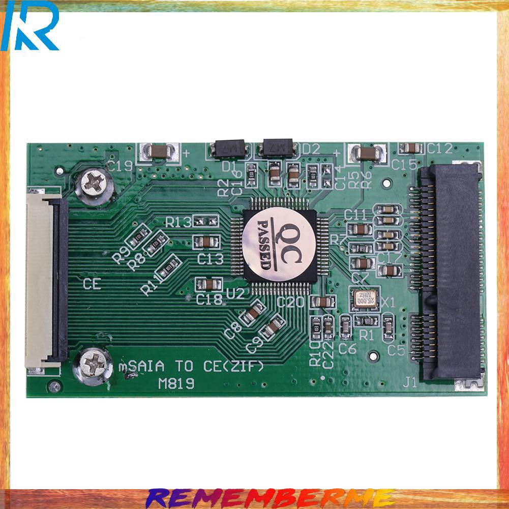 1pc Mini Sata Msata Pci-E Ipod Ssd 至 40pin 1.8inch Zif Ce 轉換