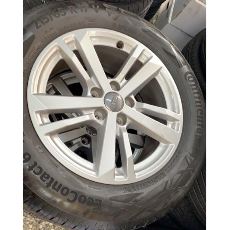 高雄人人輪胎 新車落地 AUDI Q3 17吋 原廠鋁圈 5孔112 + 馬牌 eco6 215 65 17 一組四顆