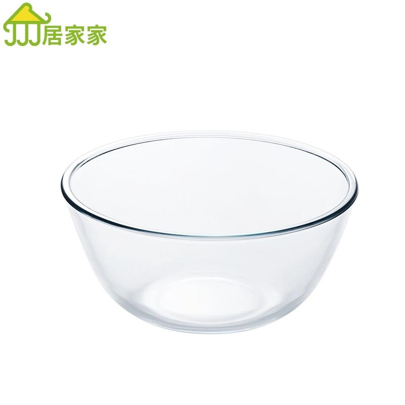 居家家玻璃碗創意北歐風飯碗湯碗水果沙拉盤家用餐具泡面碗米飯碗