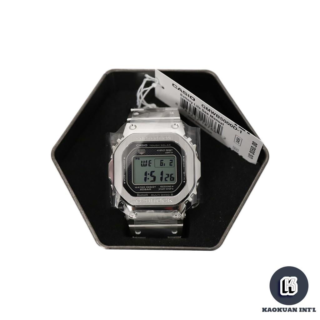G-Shock Casio 保證公司貨正品 GMW-B5000D-1 經典5600 不鏽鋼 太陽能 電波錶【高冠國際】