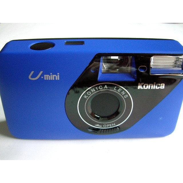 KONICA U-mini 底片相機 ~ 全新 附盒 吊繩 電池 寶藍色