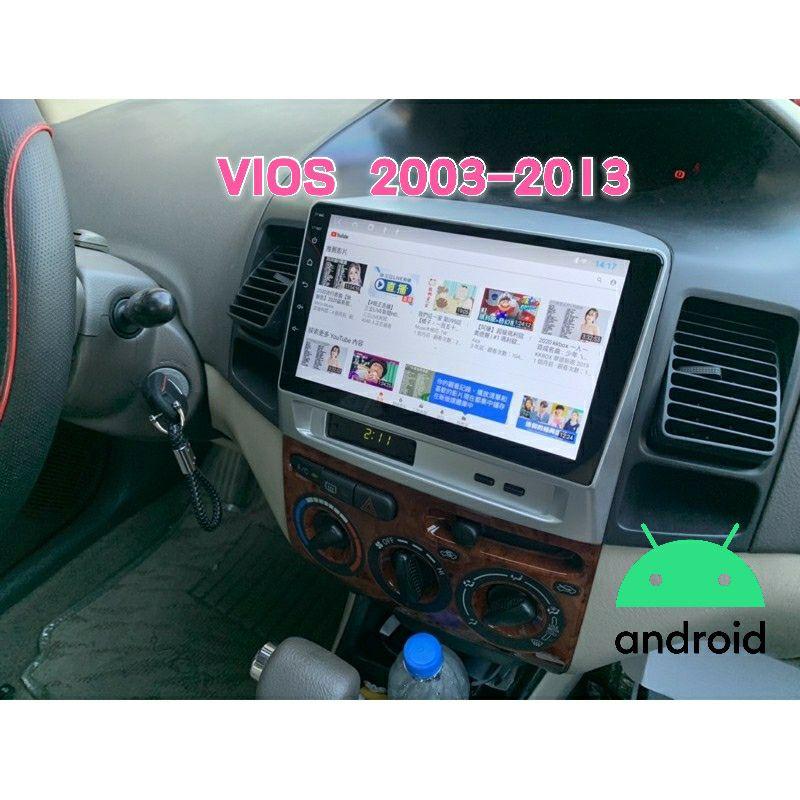 VIOS 安卓機 03-13年 9吋 專用 導航 GPS 音響 主機 安卓 多媒體 影音 倒車顯影