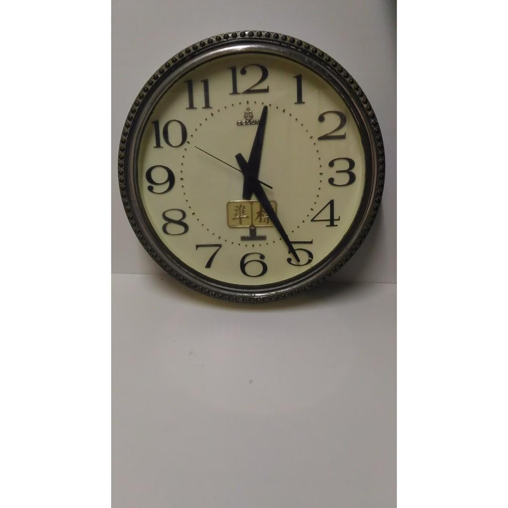 鐵力士 TELUX 時鐘 標準 掛鐘 老件 速度變慢 直徑42公分