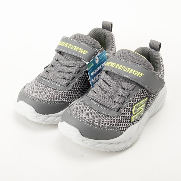 Skechers 男童系列 NITRO SPRINT 兒童慢跑鞋-灰/綠 400083LGYLM  現貨