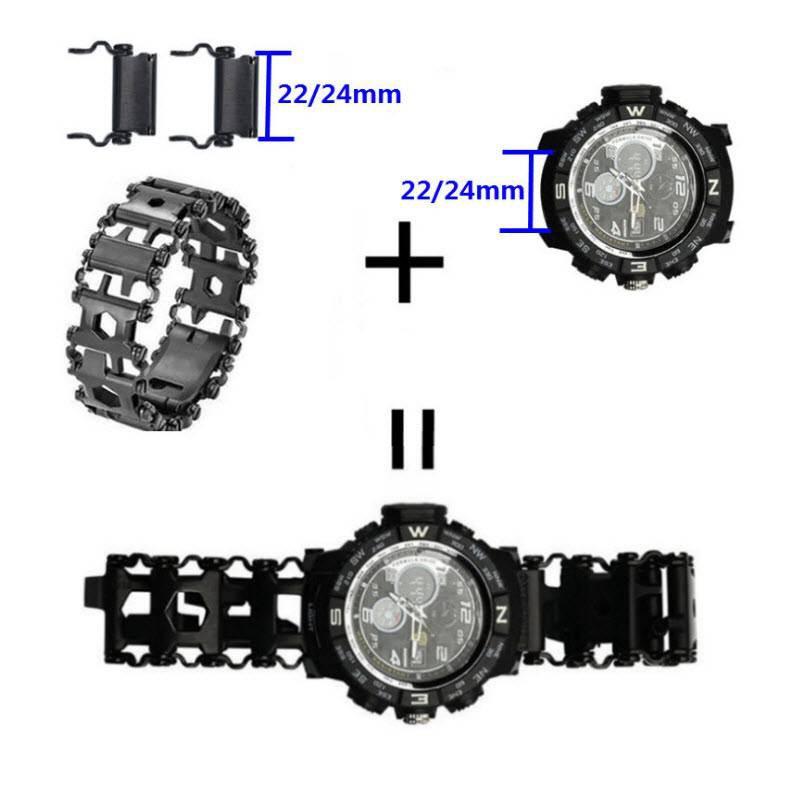男生包包手錶適配Leatherman 萊澤曼戶外多功能手鍊 隨行者連接頭表耳配件 29合一多功能手鍊工具錶帶表扣配件