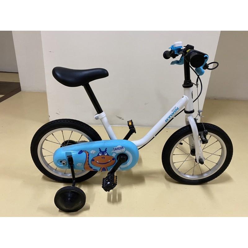 迪卡儂 BTWIN 14吋兒童腳踏車  有輔助輪~二手