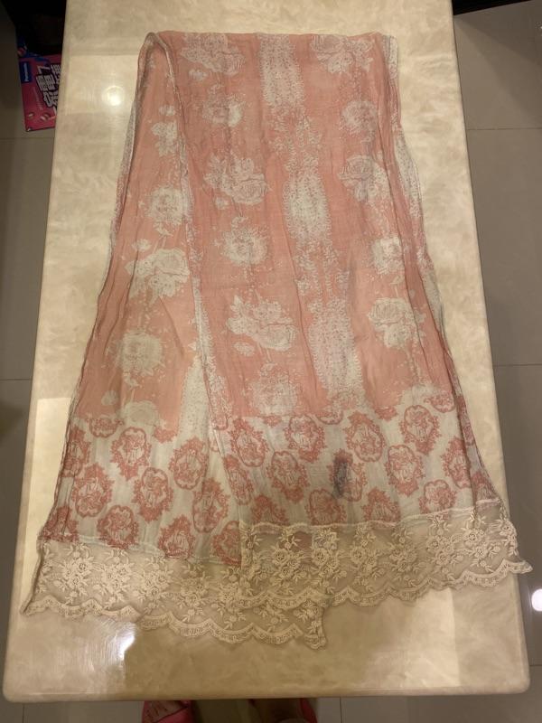 ANNA SUI綿麻圍巾