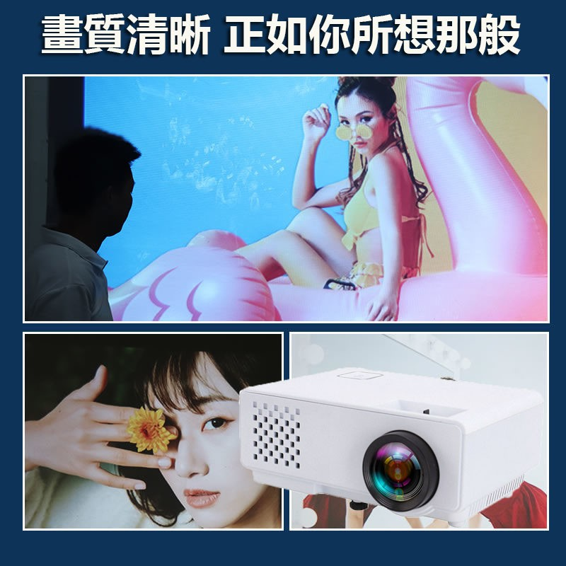 Rigal瑞格爾 投影機 高清 手機投影儀 家用無線wifi 家庭影院Nanami