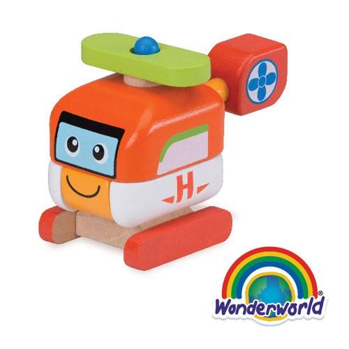 Wonder World泰國木製 歡樂拼裝系列-直升機