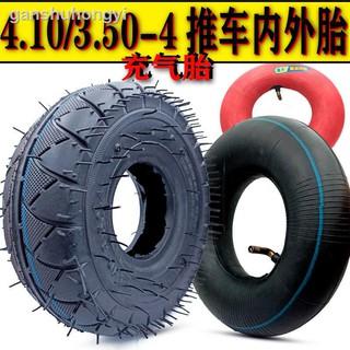 4.10/ 3.50-4兩輪手推車內外胎輪胎350-4內胎外胎老虎車充氣內外胎